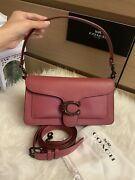 Nwt Coach Tabby 26 Dusty Rose Shoulder Bag With Gem Buckle Pebble Leather