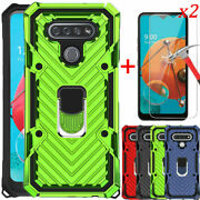 For Lg K51/reflect/q51 Armor Shockproof Ring Defender Case Cover+tempered Screen
