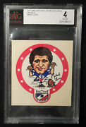 1972 Sporticature Decal Meyercord Mike Lucci Detroit Lions Bvg 4 Vgex Rare