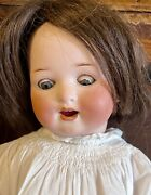 Antique German 16andrdquo Heubach Koppelsdorf Character Doll With Orig Body Cute Outfit