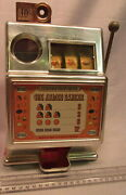 Vintage 70and039s 10 Cent Toy Slot Machine One Armed Banker Medley Mfg. Co. U.s.a
