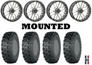 Kit 4 Itp Versa Cross Tires 33x10-20 On System 3 St-3 Machined Wheels Fxt