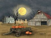 Art Print Framed Or Plaque By Billy Jacobs - Harvest Moon - Bj1094a - 18 X 24