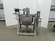 23 Dia X 24 Deep Stainless Steel Jacketed Mixing Bowl W/1-1/2hp Mixer 480v 3ph