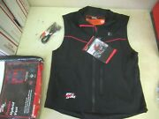 3 Settings Heated Electric Vest E-duo - Includes 12v Hook-up Mens Xl Black