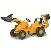 Rolly Toys Cat Construction Pedal Tractor Backhoe Loader Front Loader And Exc
