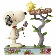 Peanuts Snoopy Jim Shore Snoopy And Woodstock Warming Gift Figure From Japan