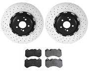 For Mercedes W129 R230 Cls63 Amg Sl55 Amg Front Disc Brake Rotors And Pads Kit