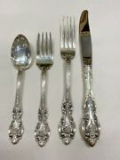 Wallace Sterling Silver Grand Victorian 4 Pc Place Setting