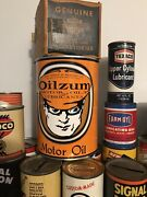 Oilzum Quart Oil Can Coin Bank With Coin Slot Oil