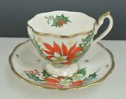 Vintage Queen Anne Noel Cup And Saucer Set England
