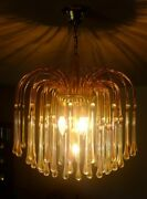 Mint Vintage Murano Italy Tier Chandelier 31 Crystal Glass Angle