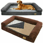 Heavy Duty Waterproof Pet Dog Bed Sofa Couch Cushion Lounger W/ Removable Cover