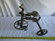 Antique Tricycle Metal Frame 9 Inch Tall Bike Doll Size Vintage