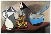 Artist Pablo Picasso Poster Print Of Painting Pitcher Candle And Casserole 1945