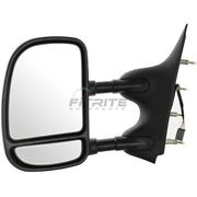 New Lh Power Towing Mirror Black Fits Ford E-350 Super Duty 2002-2008 Fo1320237
