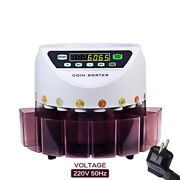 Automatic Electronic Counting Change Machine Digital Coin Sorter Machine Counter