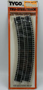 Tyco Tru-steel Curved Railroad Track 418 4-piece Package