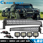 52 Led Light Bar+32and039and039 Lamp+4and039and039 Offroad For Hummer H1 H2 H3 Humvee Am General 50