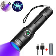 395nm Uv Lights Tactical Led Black Light Flashlight Rechargeable 18650 Torch