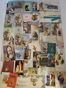 Lot Of Religious Rosary Beads Holy Cards Bookmarks Medals Etc. Catholic Church