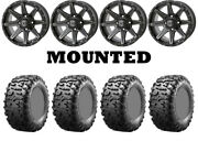 Kit 4 Maxxis Bighorn 3.0 Tires 29x9-14/29x11-14 On Frontline 308 Matte Gray H700