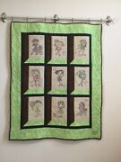 Attic Window Handmade Quilt With Swirly Girl Embroidery Designs