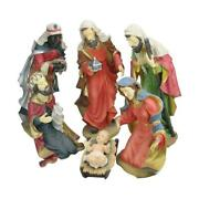 Large Scale Holy Family Three Kings Religious Christmas Nativity Statues 19 6pc
