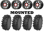 Kit 4 Sedona Mudder Inlaw 30x10-14 On Kmc Ks234 Addict 2 Beadlock Black 550