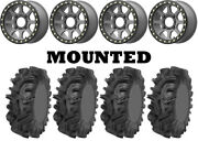 Kit 4 Sedona Mudder Inlaw Tires 32x10-14 On Kmc Ks234 Addict 2 Beadlock Gray Ter
