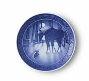 New In Box 2019 Royal Copenhagen Christmas Plate Denmark Factory First Quality
