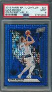 2019 Panini National Convention Vip Gold Party Blue 27 Luka Doncic Psa 9