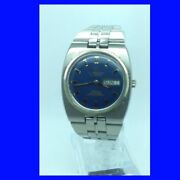 Vintage Steel Retro Omega Constellation Blue Dialed Day-date Watch 1971