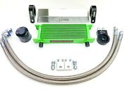American Star Polaris Rzr570 Complete Oil Cooler Kit W/stainless Steel Oil Lines