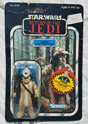 Star Wars Vintage Logray Figure Rotj 77 Back B Carded Moc Made In Mexico 1984