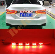 For Toyota Camry 18-20 Led Chrome Rear Door Trunk Tail Light Cover Accessories