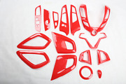 For Hyundai Veloster 2012-2017 Abs Red Interior Accessories Whole Kit Trim Cover
