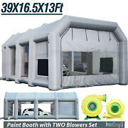 39x16x13ft Inflatable Spray Booth Paint Tent Mobile Portable Car Workstation Usa