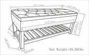 Simpli Home Lomond 43 Inch Wide Rectangle Storage Ottoman Bench With Open Bot...