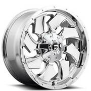 22x12 Fuel Wheels D573 Cleaver 6x135.00/6x139.70 Chrome Plated -44 S45
