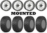 Kit 4 Itp Terra Claw Tires 27x9-14 On System 3 St-3 Machined Wheels H700