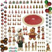 Home For The Holidays Gingerbread Ornament Holiday Christmas Decor Set 152 Piece