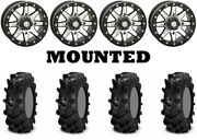 Kit 4 Itp Cryptid Tires 36x10-18 On Sti Hd9 Beadlock Machined Wheels Can