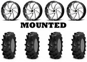 Kit 4 Itp Cryptid Tires 36x10-18 On Msa M36 Switch Machined Wheels Fxt