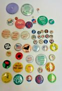 Lot Of 48 Vintage Pinback Buttons, Purple Psychedelic,rockpile, Zoot, Nixon Tab