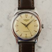 C.1951 Vintage Longines Sei Tacche Breguet Dial Watch 22as Ref. 6280-3 In Steel