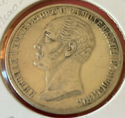 Coin 1859 Russia Alexander Ii.nicholas I Memorial Silver Rouble - Rare And Raw