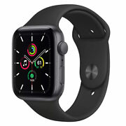 Apple Watch Se Gps 44mm Aluminum Case Black Sport Band - Space Gray Mydt2ll/a