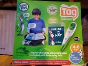"""Leap Frog Tag Book Reading System Pen W/connect Software """"cat In The Hat"""" Nob"""