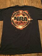 Nra National Rifle Assoc. Authentic T-shirt Forged In Freedom/2nd Amend. Large